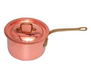 22 cm Copper saucepan with long handle