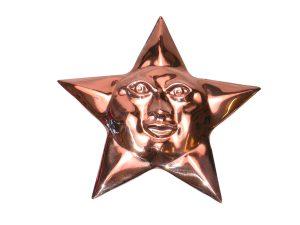 Copper Star wall decor cm. 14